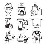 Spa och wellnesssymboler royaltyfri illustrationer