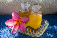 Spa oil and flower Stock Photography