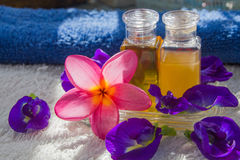 Spa oil and flower Stock Photo