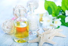 SPA oil and salt Royalty Free Stock Photos