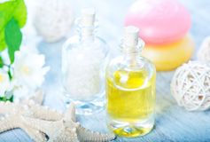 SPA oil and salt Stock Images