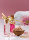 Spa oils and sea salt Royalty Free Stock Image