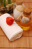 SPA oils for wellness or relaxing stock photography