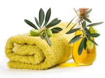 Spa with olive oil Stock Images