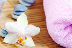 Spa with orchids Stock Photography