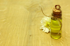 SPA organic flowers massage oil in handmade bottle