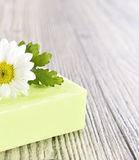 Spa organic soap and flower Royalty Free Stock Photos