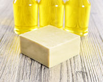 Spa organic soap and oil Royalty Free Stock Image