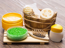 Spa and pampering products and accessories Stock Images