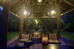 Spa pavilion resort at night lighting Stock Photo