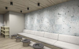 Spa and pedicure. Spa salon and pedicure room with tile royalty free illustration