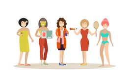 Spa people concept vector flat illustration Royalty Free Stock Image