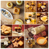 SPA photo collage. Spa theme photo collage composed of different images Royalty Free Stock Photos