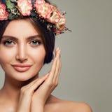 spa piękności Śliczny kobieta zdroju model z Zdrową skórą zdjęcie royalty free
