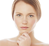 Spa picture attractive lady young red hair Stock Images