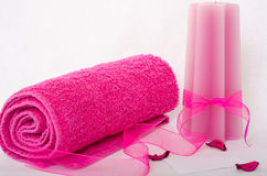 Spa pinkness Royalty Free Stock Images