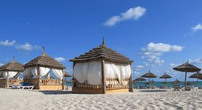 Spa place on the beach royalty free stock images