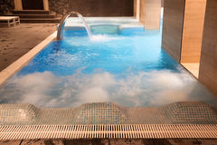 Spa pool in action Royalty Free Stock Images