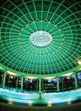 Spa pool dome. Night shot of a luxury spa pool dome royalty free stock images
