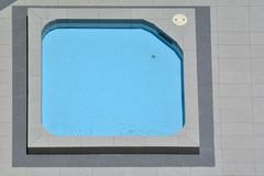 Spa Pool Flat Lay View stock photos