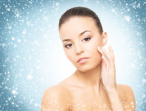 Spa portrait of beautiful, young and healthy woman Stock Photo