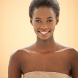 Spa Portrait of a SMiling African Woman Royalty Free Stock Photos