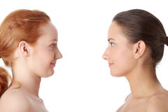 Spa - portrait of two woman Royalty Free Stock Photo