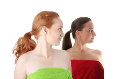 Spa - portrait of two woman Stock Photography