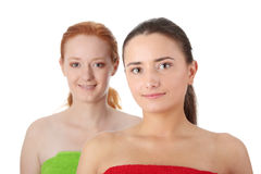 Spa - portrait of two woman Royalty Free Stock Images