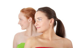 Spa - portrait of two woman Stock Photos