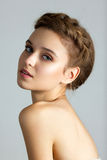 Spa portrait of young beautiful woman Stock Image
