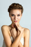 Spa portrait of young beautiful woman stock photo