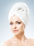 Spa portrait of a young and healthy woman Royalty Free Stock Images