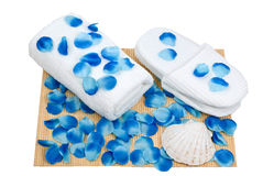 Spa preaparation in blue Stock Photos