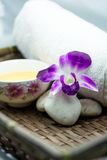 Spa. Prepare some accesseries for Thai spa Royalty Free Stock Photography