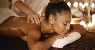 Spa Procedure With Marine Salt