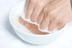 SPA procedure with the salts Royalty Free Stock Photos