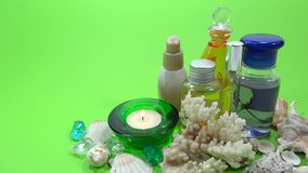 Spa product presentation stock video footage