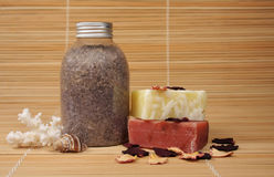 Spa products. On natural background Stock Photo