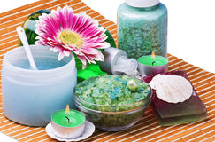 Spa products. Are isolated on a white background royalty free stock image