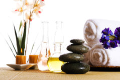Spa products Royalty Free Stock Photos