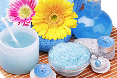 Spa products and aromatherapy Royalty Free Stock Image