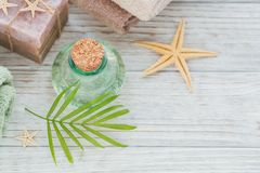 Spa products for facial and body care. Stock Photo
