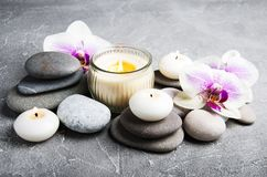Spa concept with orchid flowers stock image