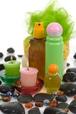 Spa products.  See similar image Royalty Free Stock Photos