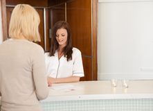 Spa Receptionist Stock Photography