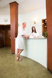 Spa Recption with Customer Royalty Free Stock Image
