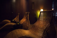 Spa relax chairs Royalty Free Stock Photography