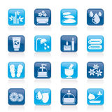 Spa and relax objects icons Royalty Free Stock Photos
