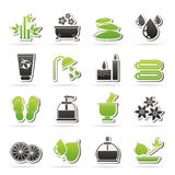 Spa and relax objects icons. Vector icon set Royalty Free Stock Photos